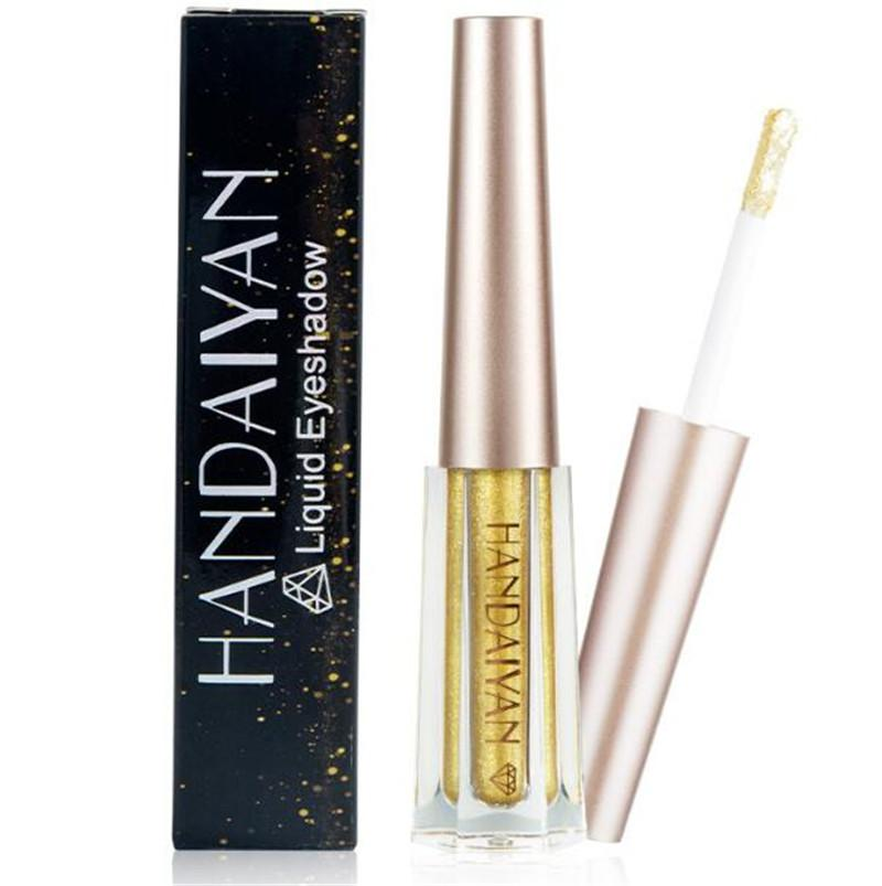 HANDAIYAN 12 couleur liquide fard à paupières scintillant Shimmer maquillage ombre à paupières liquide fard à paupières métallique étanche livraison gratuite