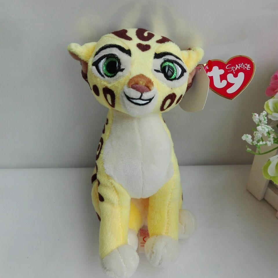 2019 The Lion Guard Fuli Cheetah Ty Sparkle 15cm Plush Toys Stuffed