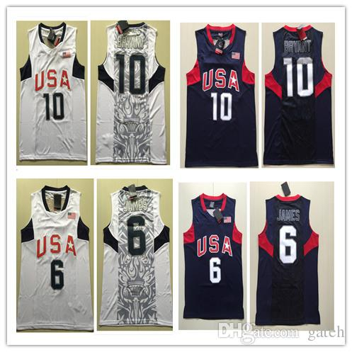 153edc38344c cheapest 2018 ncaa 2008 olympics dream team 6 lebron james jersey 10 kobe  bryant basketball jerseys