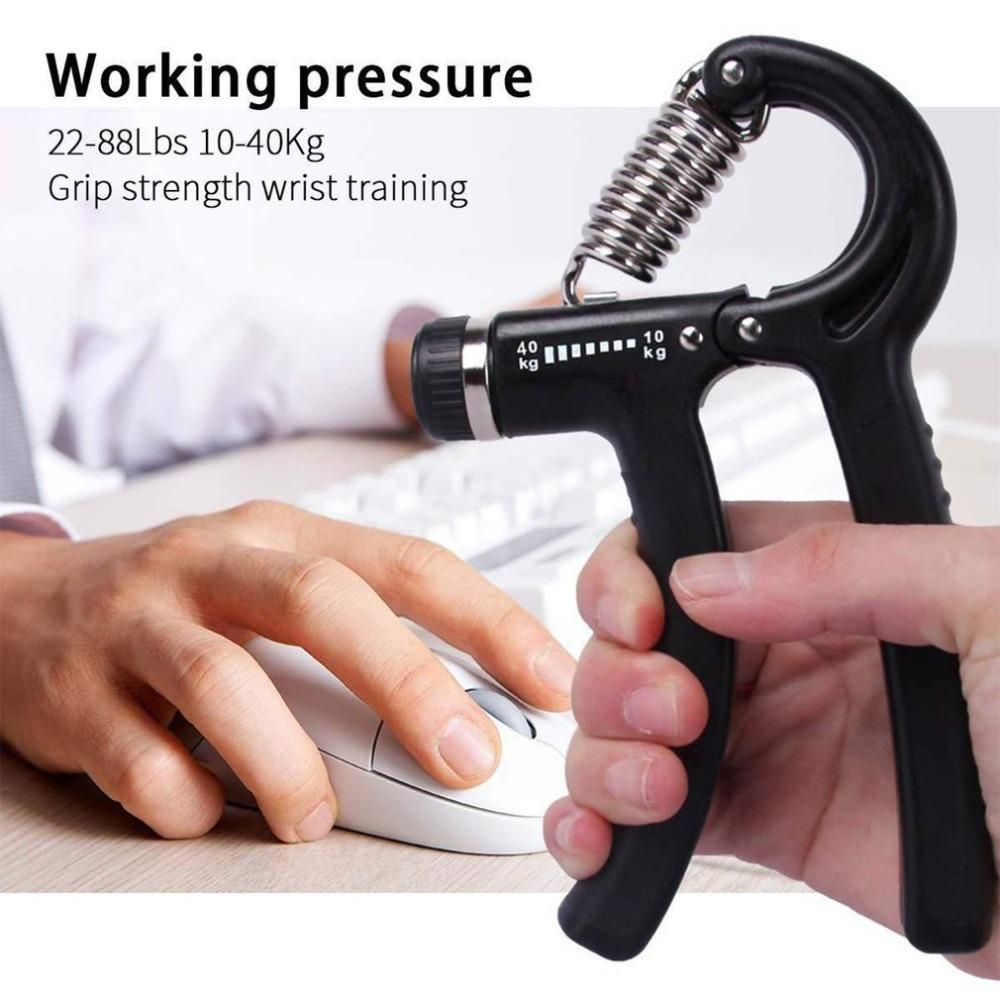 Hand Grip Strengthener Strength Trainer Adjustable Resistance 10-40KG Arm  Hand Exerciser Non-slip Gripper for Athletes