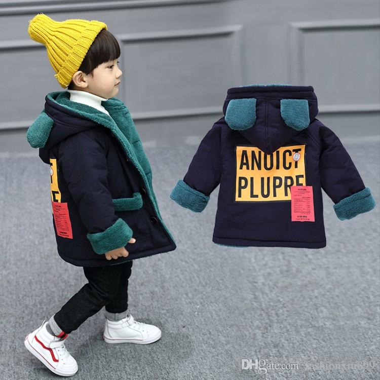 cdc261c8d 2019 New Fashion Autumn Winter Baby Boys Girls Warm Outerwear Children  Suede Fleece Jacket Kids Thick Long Coat Girls Winter Clothes Boys Dress  Coats Kids ...