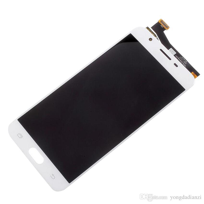 100% Yüksek Kalite LCD Samsung Galaxy J7 Başbakan Ekran G610F G610K G610L G610S G610Y LCD Digitizer Ile Dokunmatik Ekran Sticker