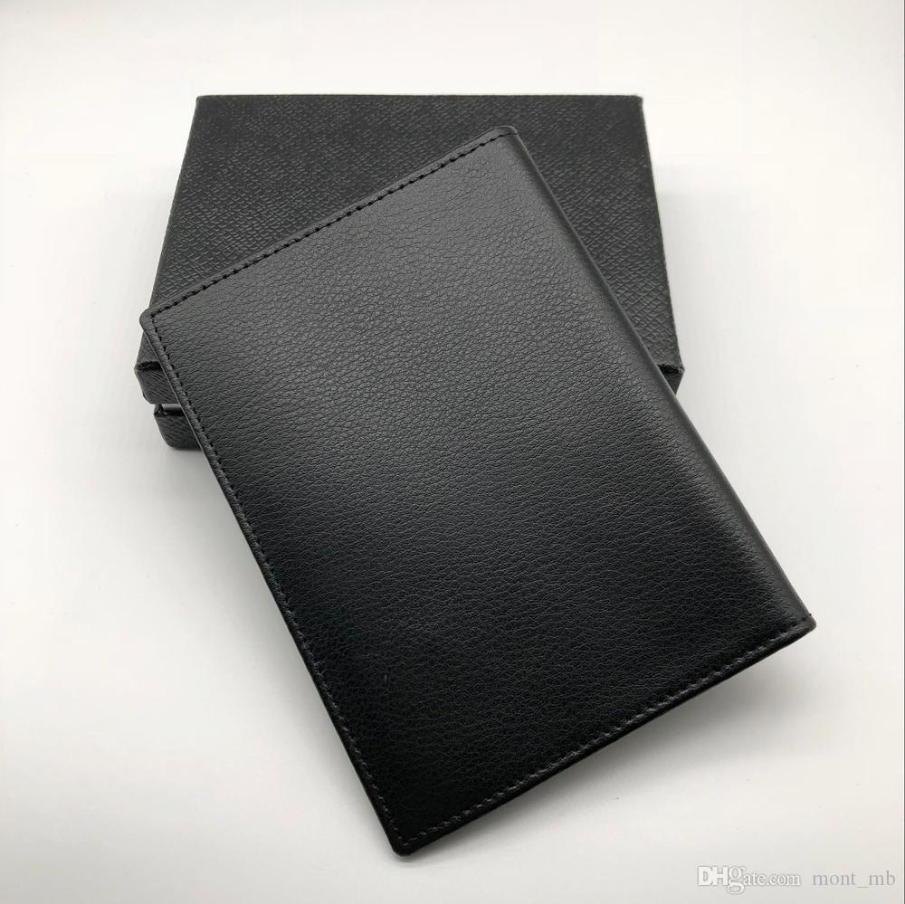 Luxury MB Leather Men's Business Black Classic Credit Card Holder Cover Cover M T Travel Wallet Passport Thin Card Set