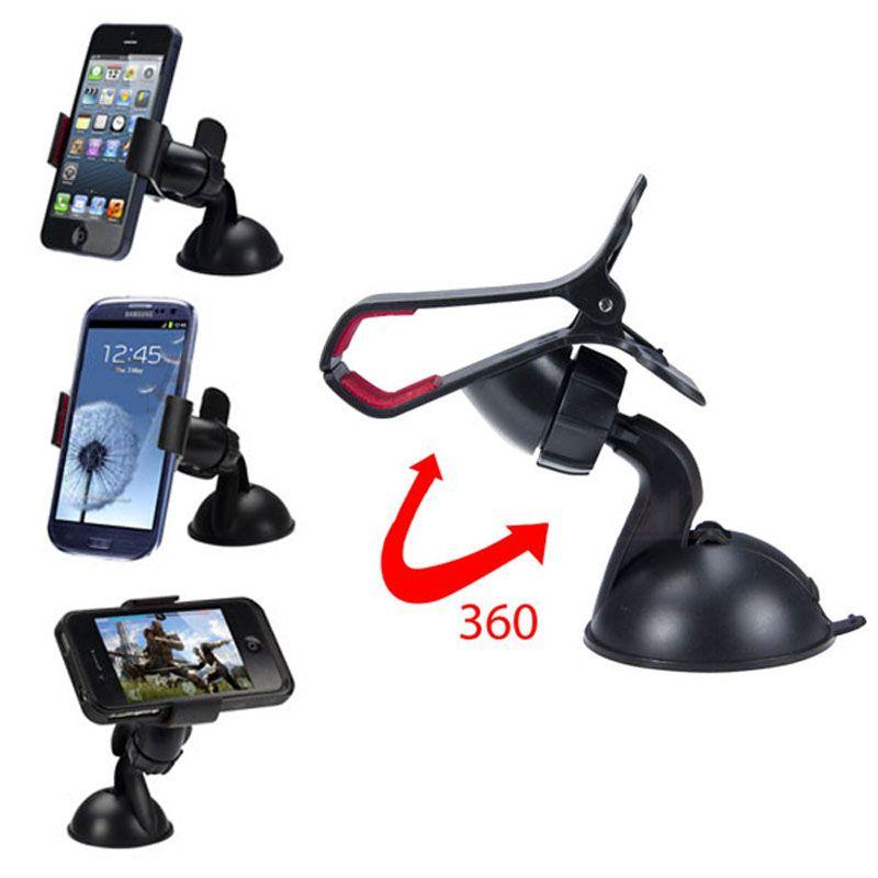 MP3 GPS 아이폰 5S를위한 새로운으로 balck 화이트 유니버설 자동차 홀더 자동차 앞 유리 마운트 홀더 6S SE 7 8 삼성