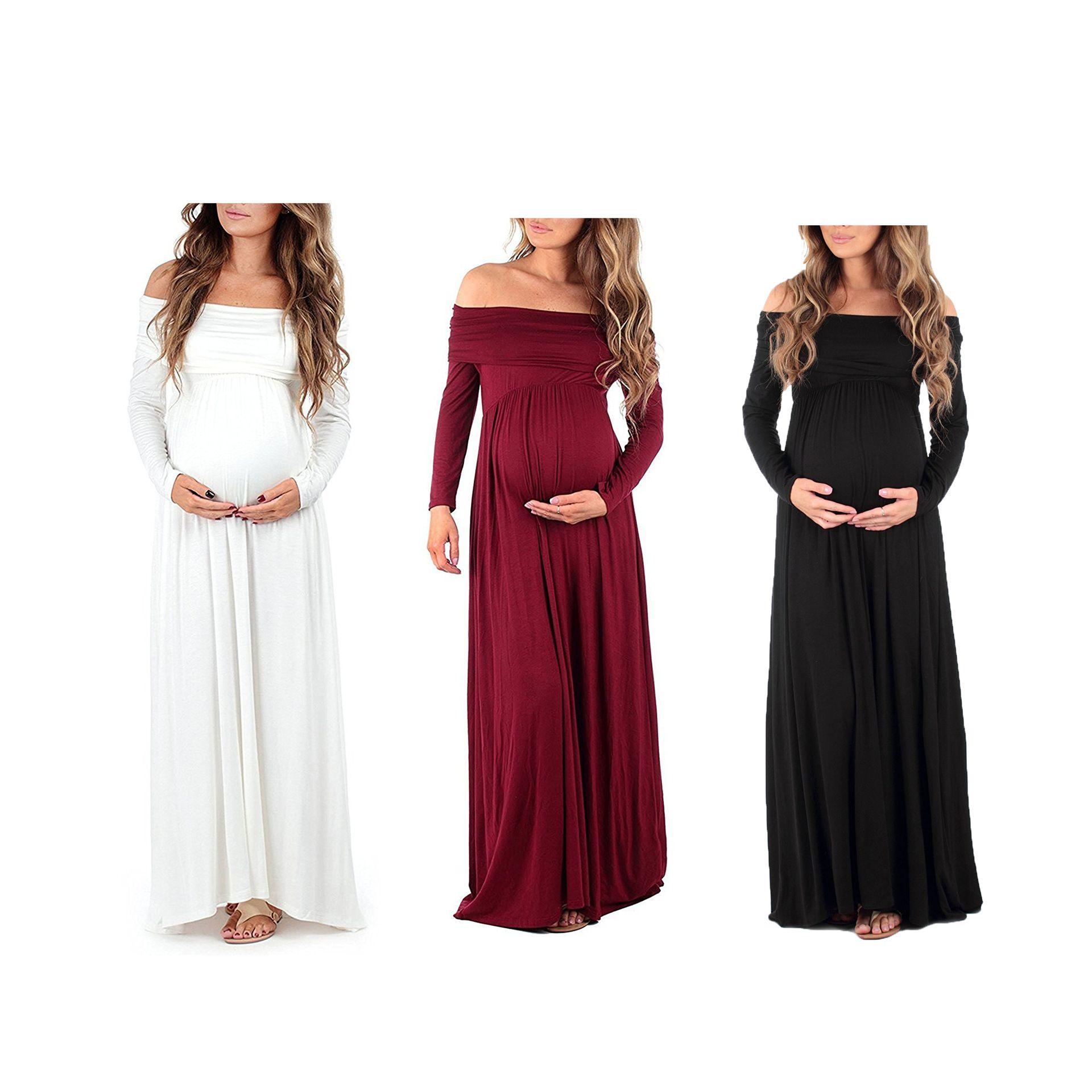 1f28d92b342bc 2019 Maternity Dress Women Cowl Neck Pregnants Photography Props Off  Shoulders Nursing Dress Drop Shipping Pregnant Women Dresses From  Mother_kidsstore, ...