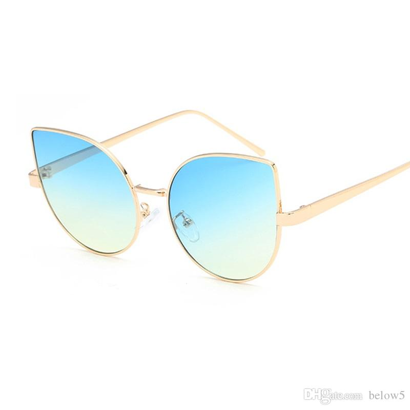 7d25279461e Cat Eye Sunglasses Women Men Fashion Brand Designer Retro Small Metal Frame  Black Red Cateye Vintage Sun Glasses UV400 Oversized Sunglasses Best  Sunglasses ...