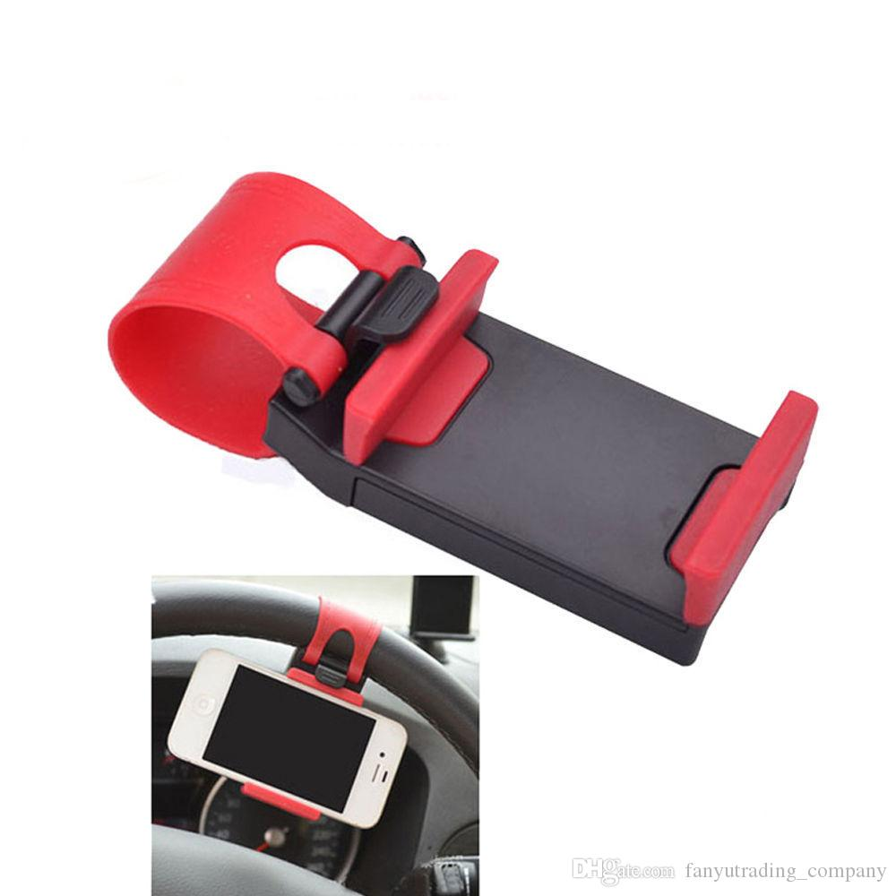 2019 Car Steering Wheel socket phone Holder universal cell phone Clip Mount car Holder for 50-80mm iPhone Samsung DHL