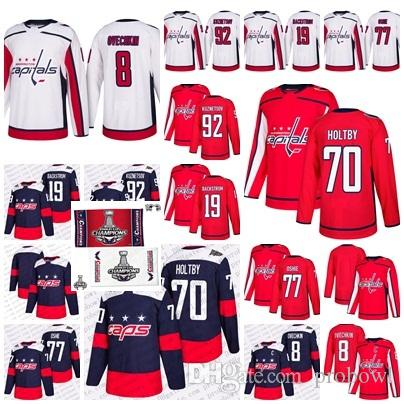 8f562ff11 2019 2018 Stanley Cup Final Champion Stadium Series Capitals 8 Alex Ovechkin  77 Oshie Braden Holtby Kuznetsov Nicklas Backstrom Hockey Jerseys From  Probowl, ...