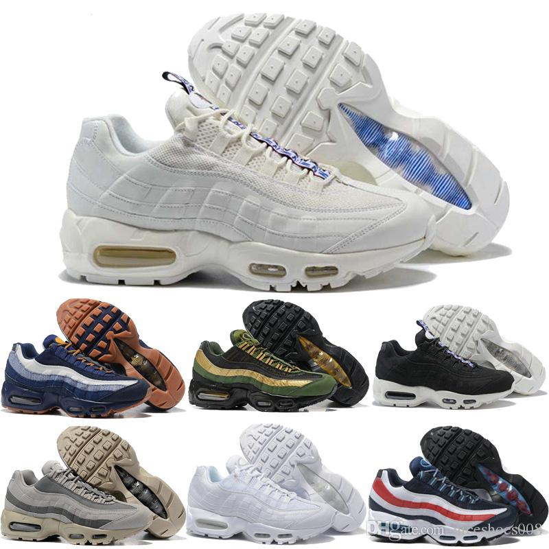 buy popular e8063 9774a Nike Air Max Airmax 95 2018 Hombres 95 OG Cushion Navy Sport Alta Calidad  Chaussure 95s Walking Boots Hombres Casual Shoes Cushion 95 Sneakers Talla  40 46 ...