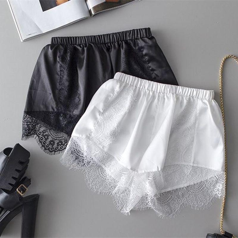 06952551f79 2019 Summer Women 2 Pack Short Panties Eyelash Silky Loose Safty Pants Lace  Trimmed Dentelle Panties Culotte Femme Underwear Knickers From Bailanh