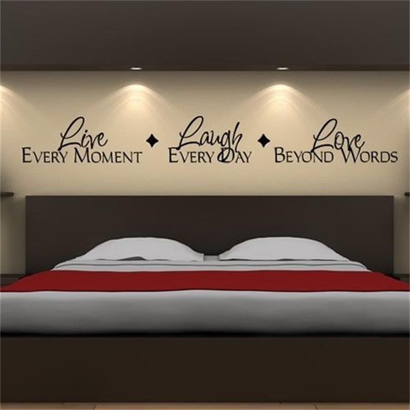 Live Every Moment Lough Every Day Love Beyond Words 8018. Vinyl Lettering Quotes Bedroom Wall Stickers Decor Home Decal Arthaif