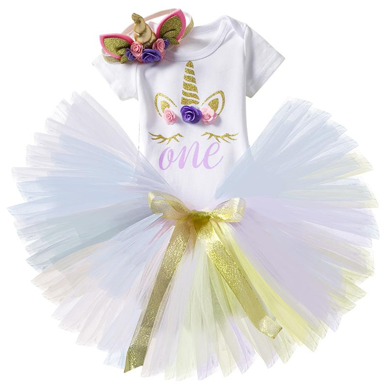 71d93e838493d Baby Girl First 1st Birthday Party Tutu Dresses CuteToddlers Vestidos  Infantil Princess Dress 1-2 Year Girls Baptism Clothing