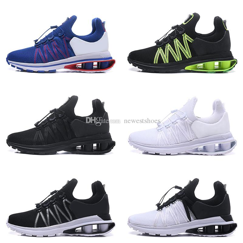 e28d3b7333626c 2018 New Shox Gravity Triple White Black Oreo Mens Running Shoes Metallic  Gold Gorge Green Grey Gravity Sports Walking Designer Sneakers Best Running  Shoes ...