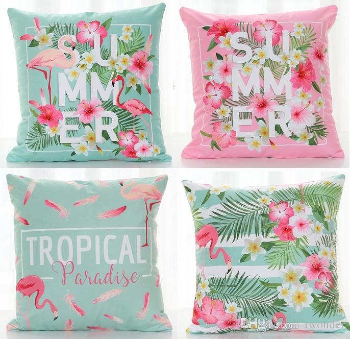tropical paradise cushion cover 10 styles flamingo birds summer rh dhgate com