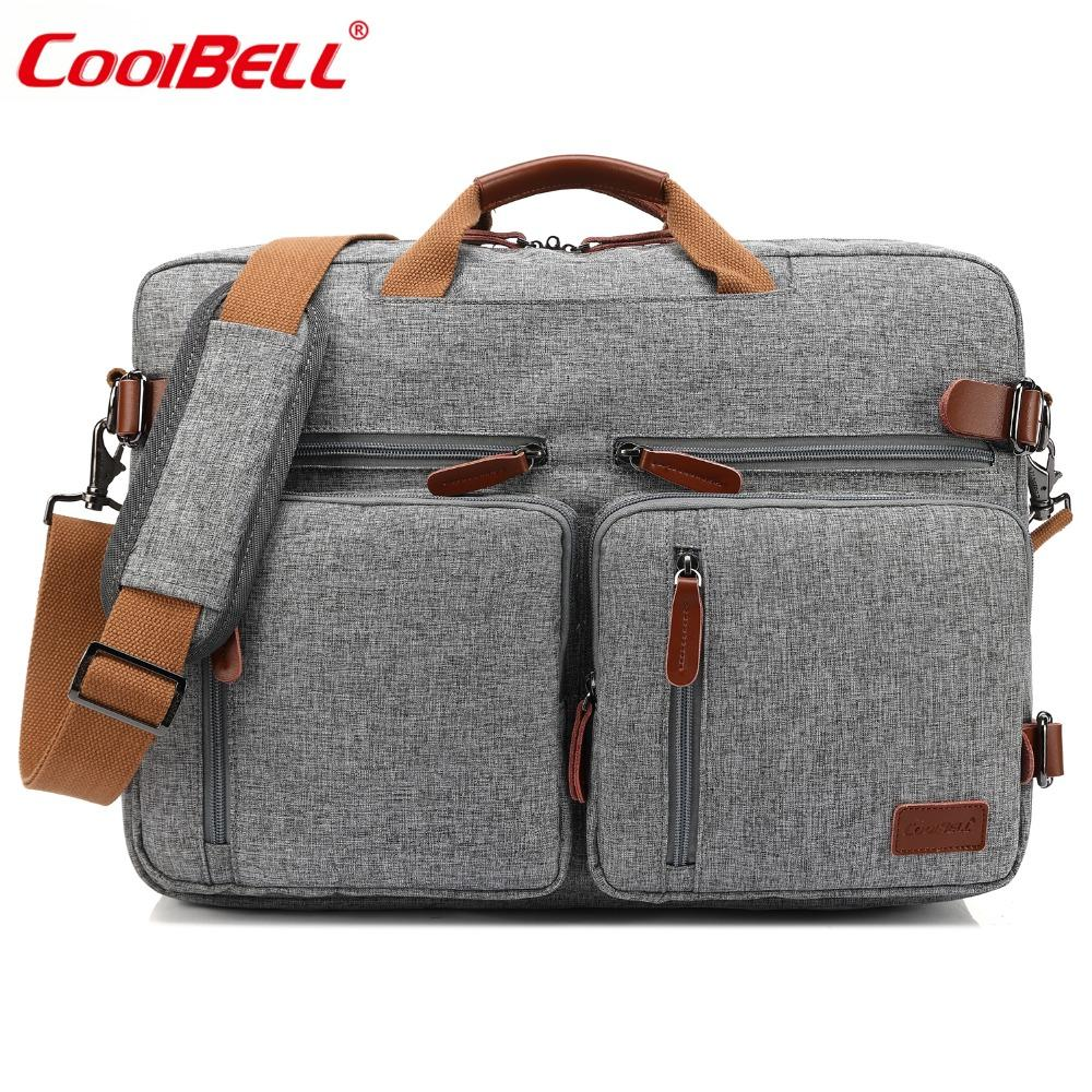 e3a607d1e1 Acheter CoolBELL 17.3 Pouces Convertible Messenger Bag Hommes Laptop Case  Business Multifonctionnel Sac À Dos Voyage Sacs À Dos Pour HP / Acer De  $63.29 Du ...