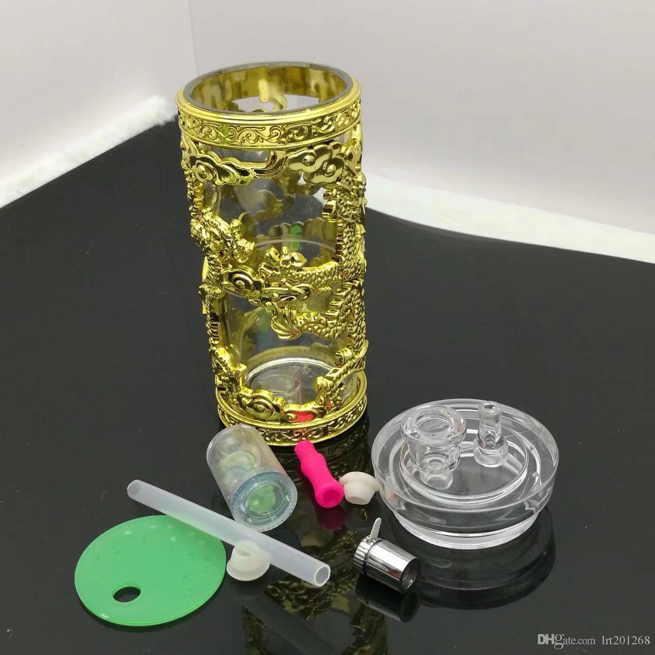 용의 물 담뱃대 아크릴 도매 기억 만 석유 버너 유리 파이프 물 파이프 유리 파이프 석유 굴착 무료 배송 흡연