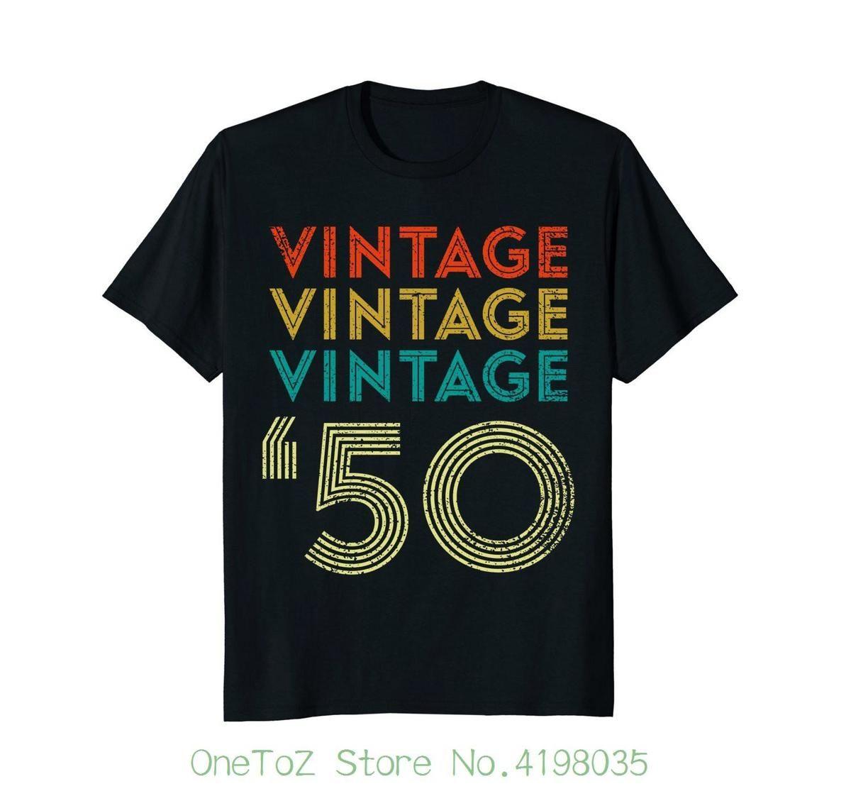 72d169a16 Vintage 1950 T shirt 50's 68th Birthday Tee Quality T Shirts Men Printing  Short Sleeve O Neck Tshirt