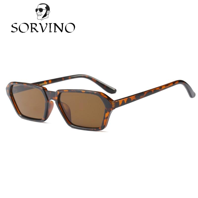 Men's Sunglasses el Malus small Thin Square Frame Sunglasses Women Mens Pink Tan Lens Leopard Shades Sexy Ladies Sun Glasses Oculos Men's Glasses