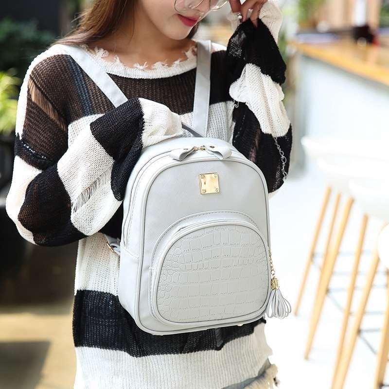 2019 2019NIBESSER Backpacks Woman Mini Leather Backpack Female Solid Tassel Bookbag  Mochila Gift Backbag Backpack Schoolbag For Girls From Shoe55, ... 4cfdc2405d