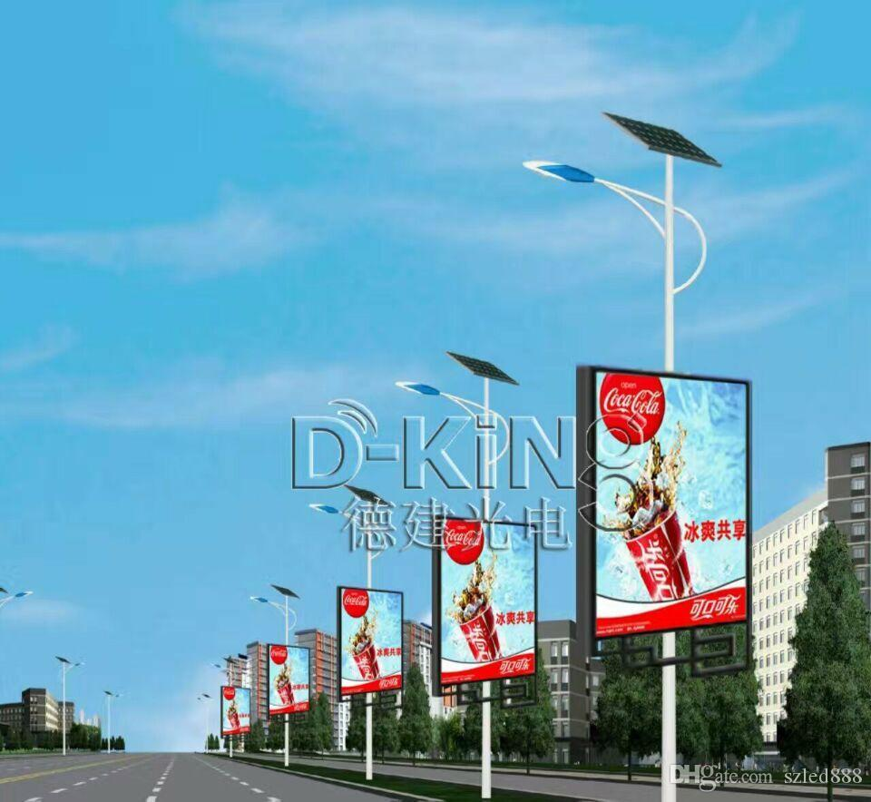 P4 Outdoor Light Pole Led Display Screen Led Lamp Post