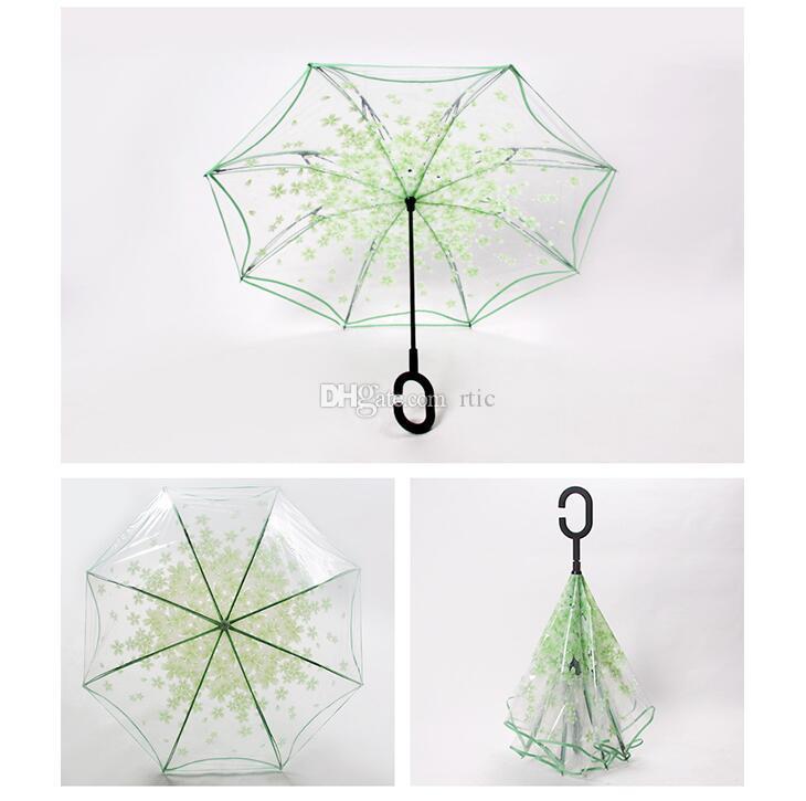 Nuevo paraguas claro transparente rendimiento de danza paraguas de manija larga paraguas de playa colorido para hombres mujeres niños paraguas niños