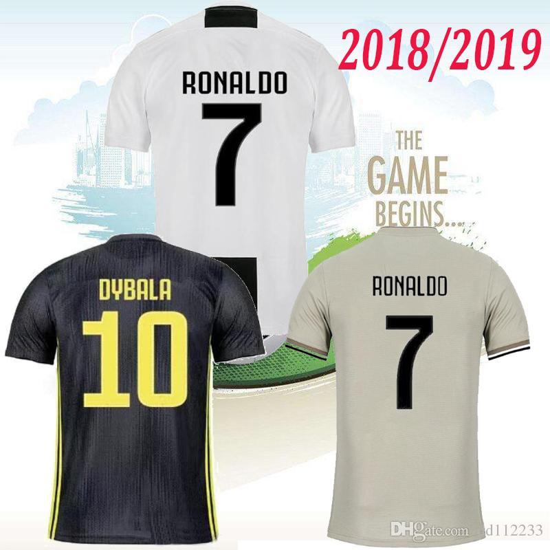24f2adce6 New RONALDO JUVENTUS Soccer Jersey 18 19 JUVE 2018 Home DYBALA ...