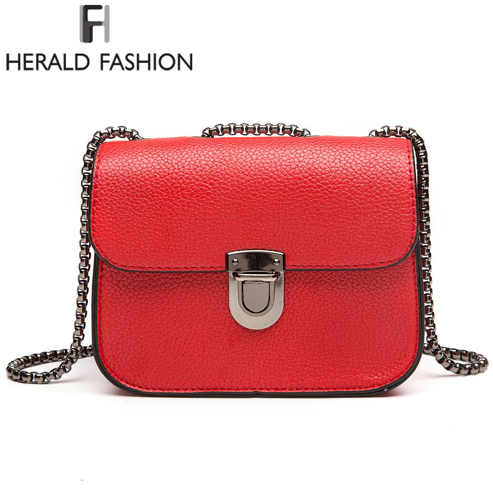Herald Fashion Brand Chain Messenger Bags Mini Women S Shoulder Bag Fashion  Brand Shoulder Bags Crossbody Flap Bags Y1890801 Weekend Bags Luxury Bags  From ... 320a72b69a4d9