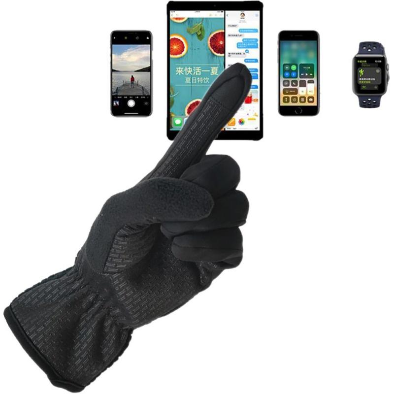 Unisex Fleece Winter Windproof Winter Screen Touchable Gloves Mittens Touch  screen gloves