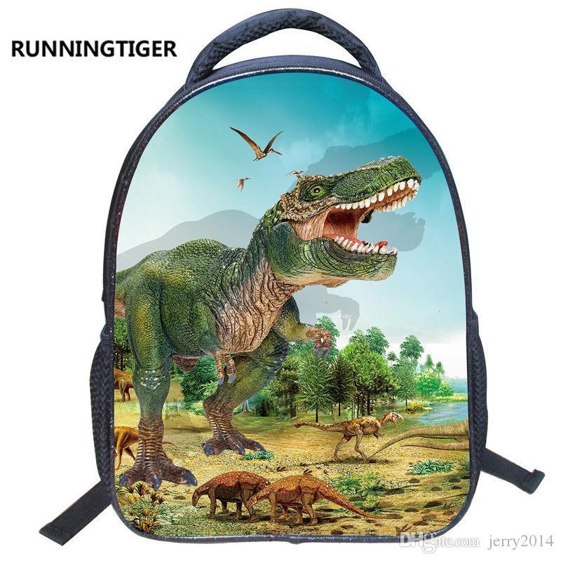 2018 nuevos alumnos populares dinosaurio 3D Print Backpack estilo europeo y americano estudiantes bolsas Kindergarten niños mochila de moda caliente