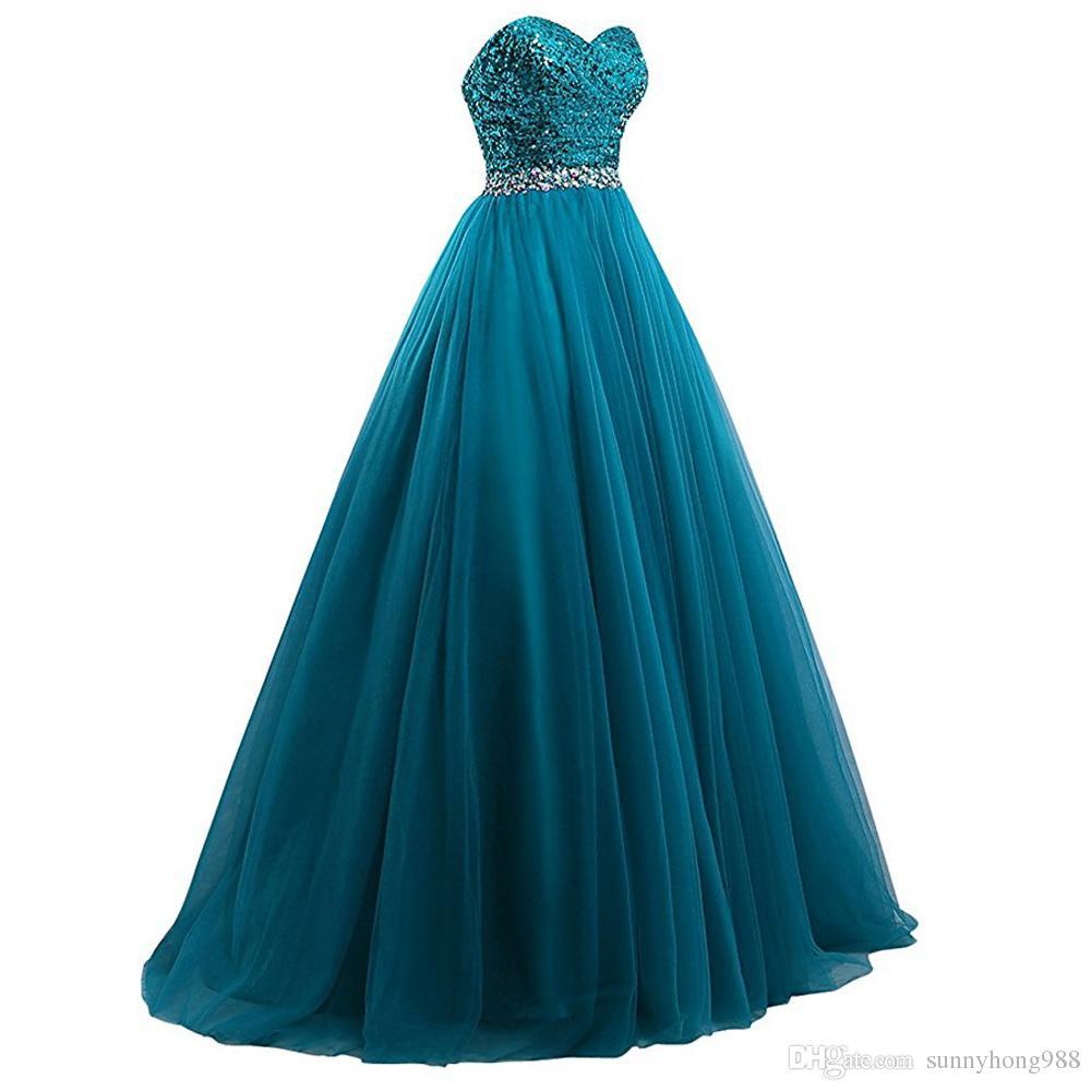 Vestido largo azul real