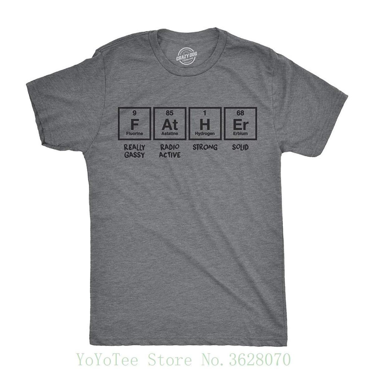c1a4b3b280222 Compre Camisetas Mens Pai Tabela Periódica Engraçado Nerdy Ciência Pais Dia  Tee Para Caras Ment Camisa Verão Estilo De Amesion49