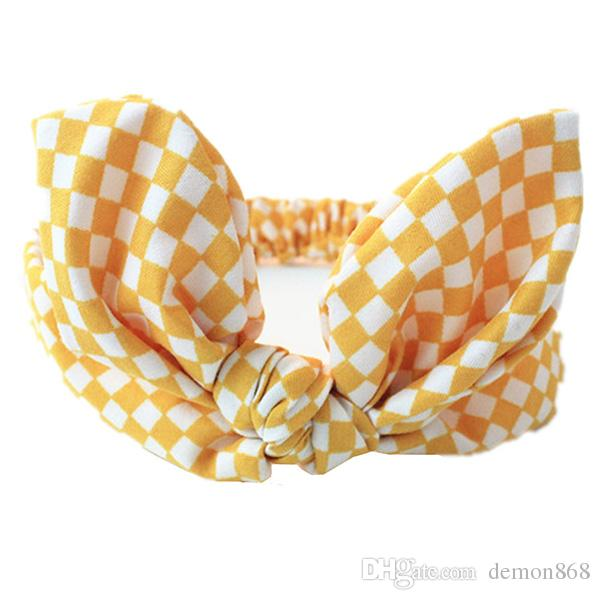 Chic Baby Girls Bow Headband Turban Stiated Pretty Girl Hairband Cute Rabbit Ear Headwear Hair Accessories