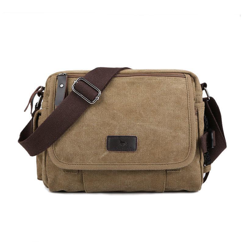 064218d88e Vintage Canvas Men Messenger Bags Small Solid Color Casual Crossbody ...