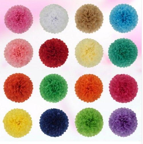 2019 10cm 15cm 20cm 25cm Wedding Decorative Paper Pompoms Pom Poms 4 6 8 10 Inch Balls Party Home Decor Tissue Birthday Decoration From Bestller886