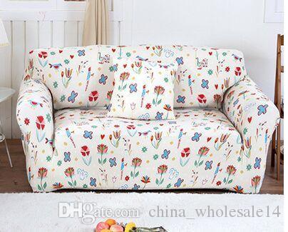 Fantastic Floral Printed Elastic Couch Cover Stretch Protector Sofa Wrap Tight Slipcovers All Inclusive Sofa Cover Anti Slip Sofa Towel Kitchen Chair Slipcovers Machost Co Dining Chair Design Ideas Machostcouk