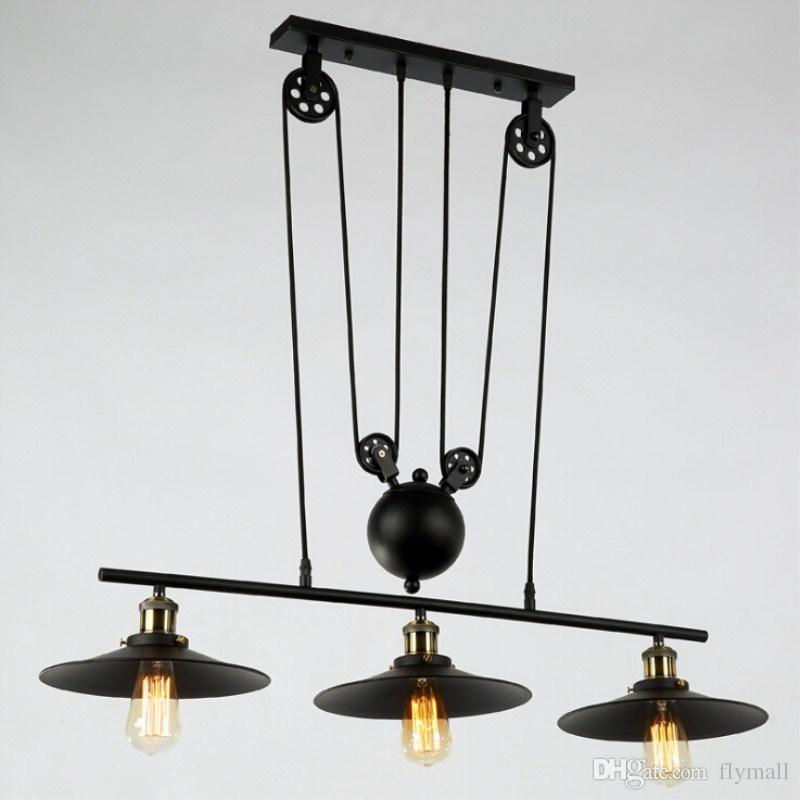 Rh Lighting Retro Iron Pulley Pendant Light Loft Vintage Industrial