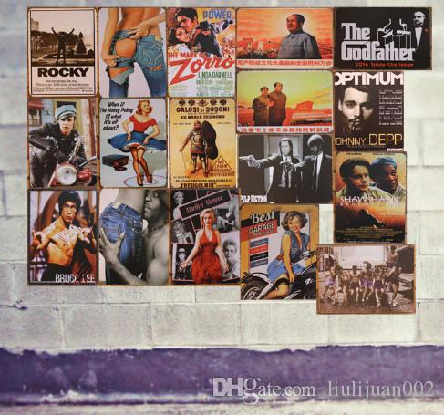 30*20cm band Metal Painting Bar wall decoration Motor Vintage Craft Tin Sign Tin decorative Movie characters wall painting