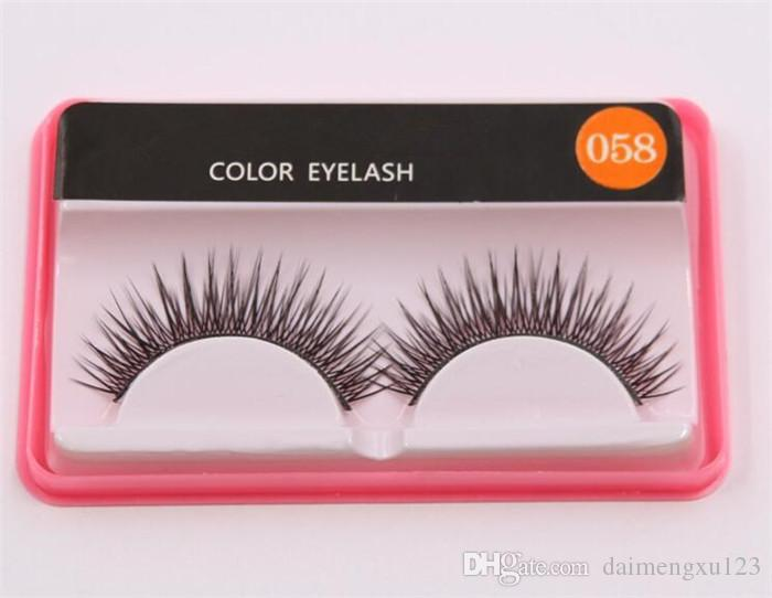 M058 Brand Fashion Eyelash Case False Eyelashes Handmade Natural Long Thick Beautiful Makeup Eyelash Fake Eye Lash extensions X062