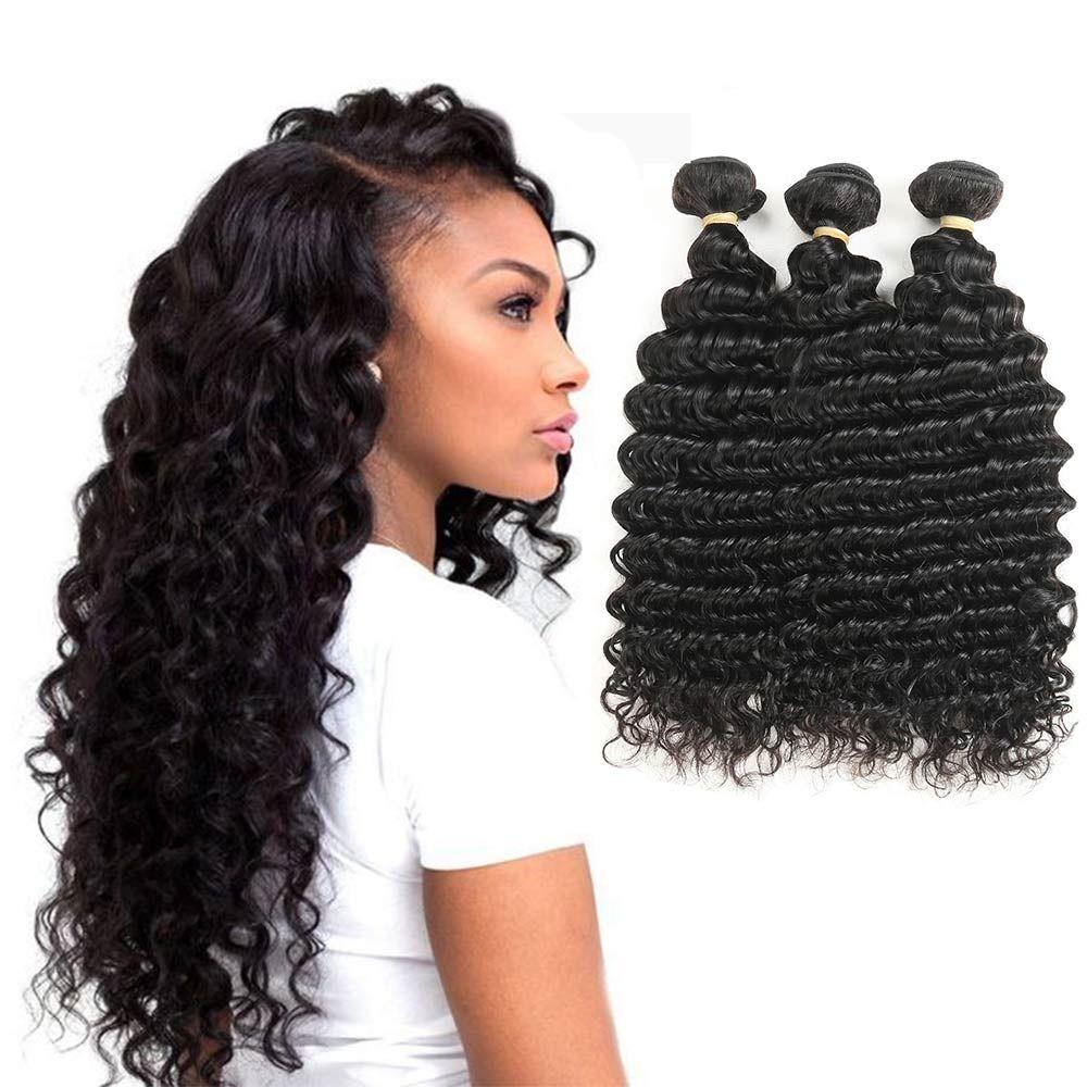 Deep Wave Brazilian Hair Weave Bundles Remy Hair Weaving Human Hair