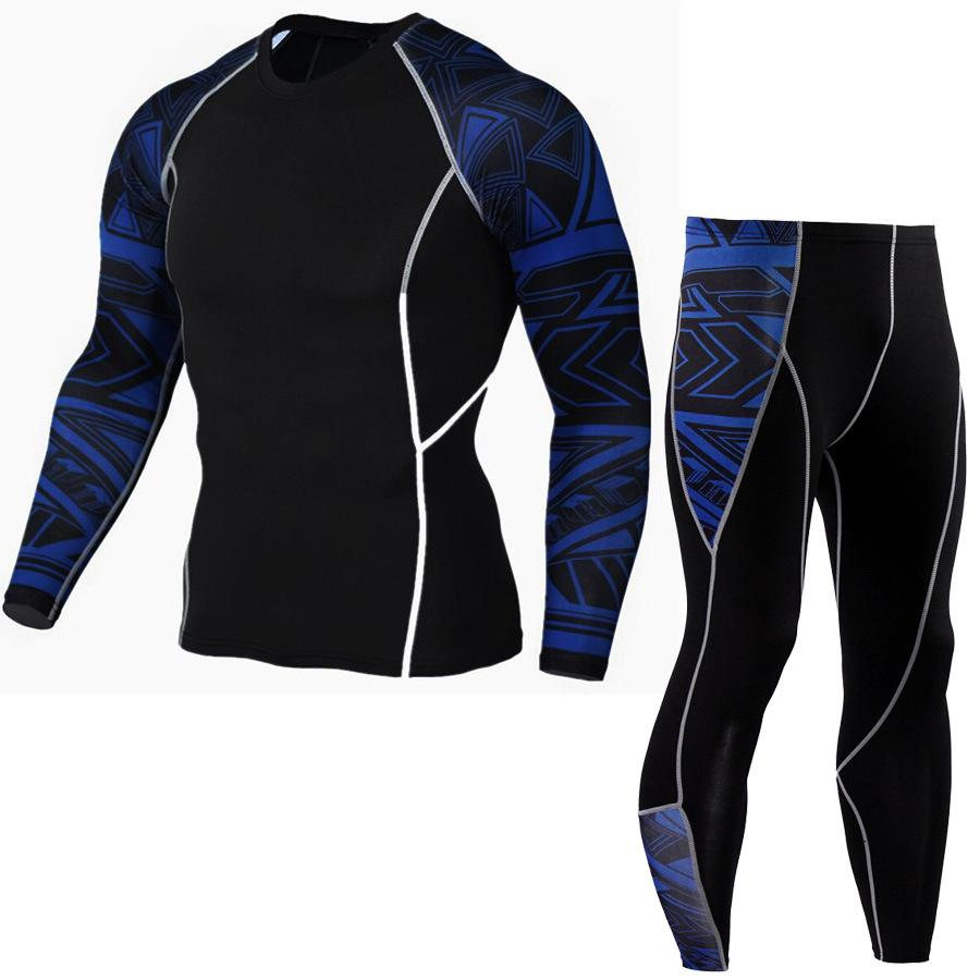 c0b763ea067 Quick Dry Fit Compression Tracksuit Fitness Tight Running Set T ...