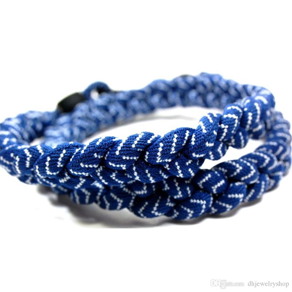 Titanium Tornado Sport 3 Rope Braided Necklace Bracelet Twisted Ionic Baseball Power