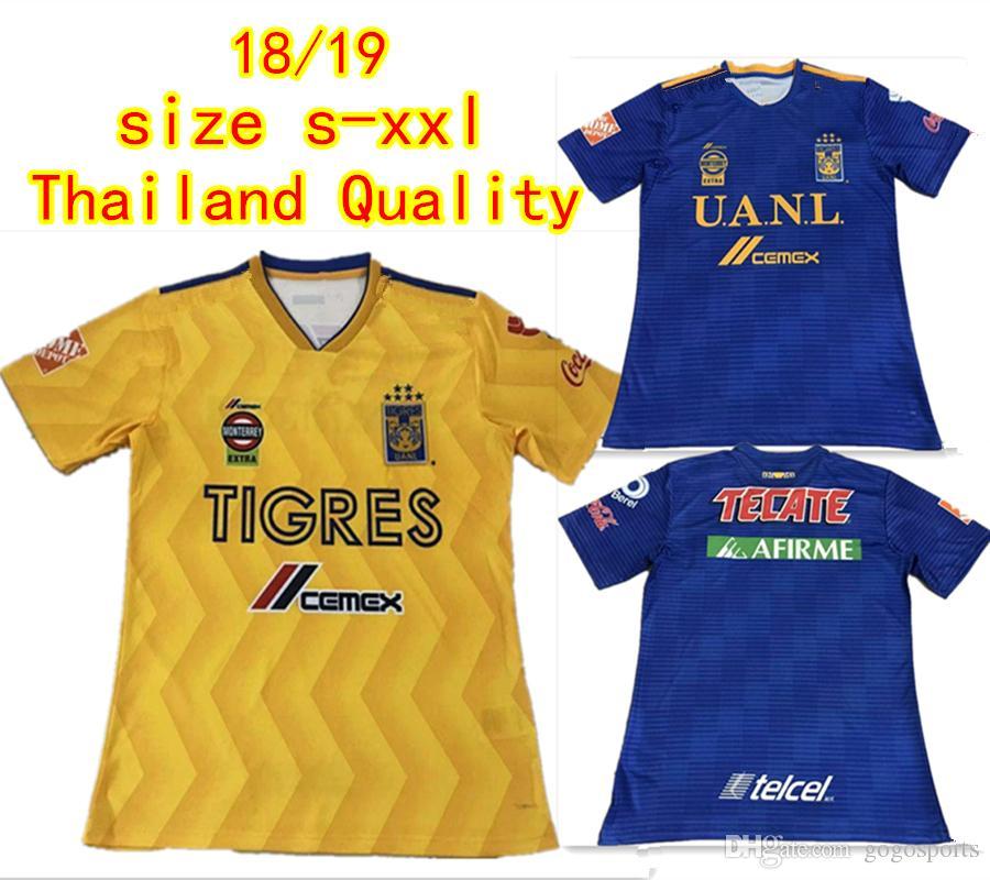 a5bba8e09 2019 Thai Quality Tigres UANL Home Away Soccer Jerseys 2018 2019 GIGNAC  Vargas H. Ayala SOSA Football Shirts Mexico Club Football Uniform From  Gogosports