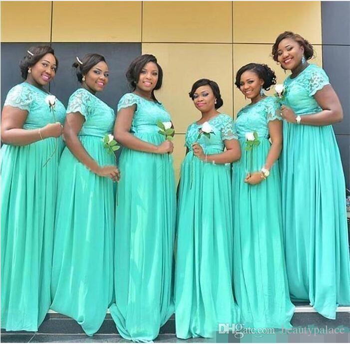 9bf5fe4a56 Compre 2019 Nueva Moda Turquesa Africana Vestidos De Dama De Honor Para Las  Muchachas Negras Formales De La Dama De Honor Vestidos Vestidos De Fiesta De  La ...