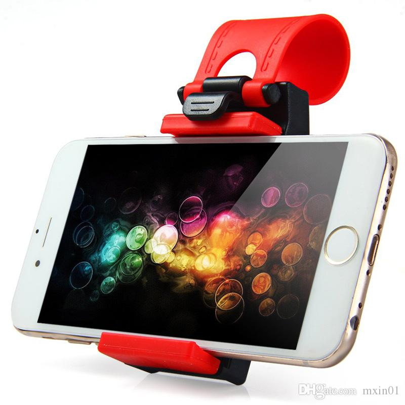 Universal Car Steering Wheel Cradle Clip Bike Mount Stand Flexible Phone Holder For iPhone iPod MP4 GPS Mobile