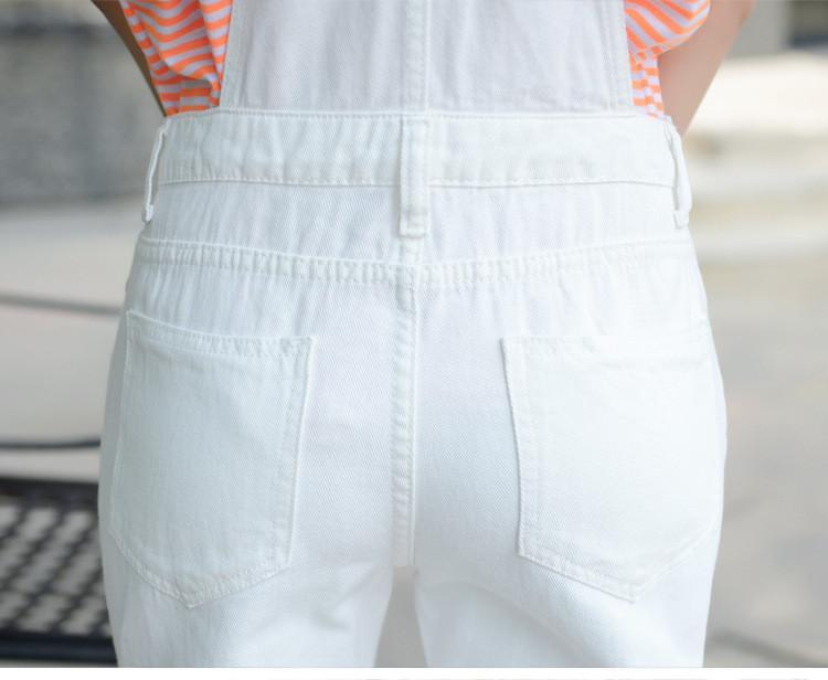 HCYO Yaz Kadın Tulum Tulum Skinny Denim Rompers Bayan Tulum Tiki Tarzı Bodysuits Romper Katı Delik Denim Tulumlar