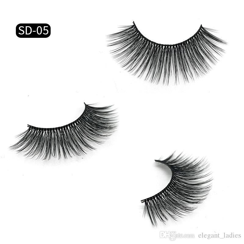 Super Beautiful false eyelashes 3D Mink lashes 11 Styles natural Extension fake Eyelashes 100% Thick real mink false eyelashes