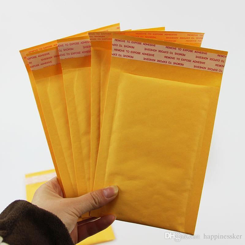 أحدث 3.9 * 7.8 بوصة 100 * 200 ملليمتر + 40 ملليمتر كرافت فقاعة الارسال مغلفات التفاف أكياس مبطنة المغلف البريد التعبئة الحقيبة شحن مجاني