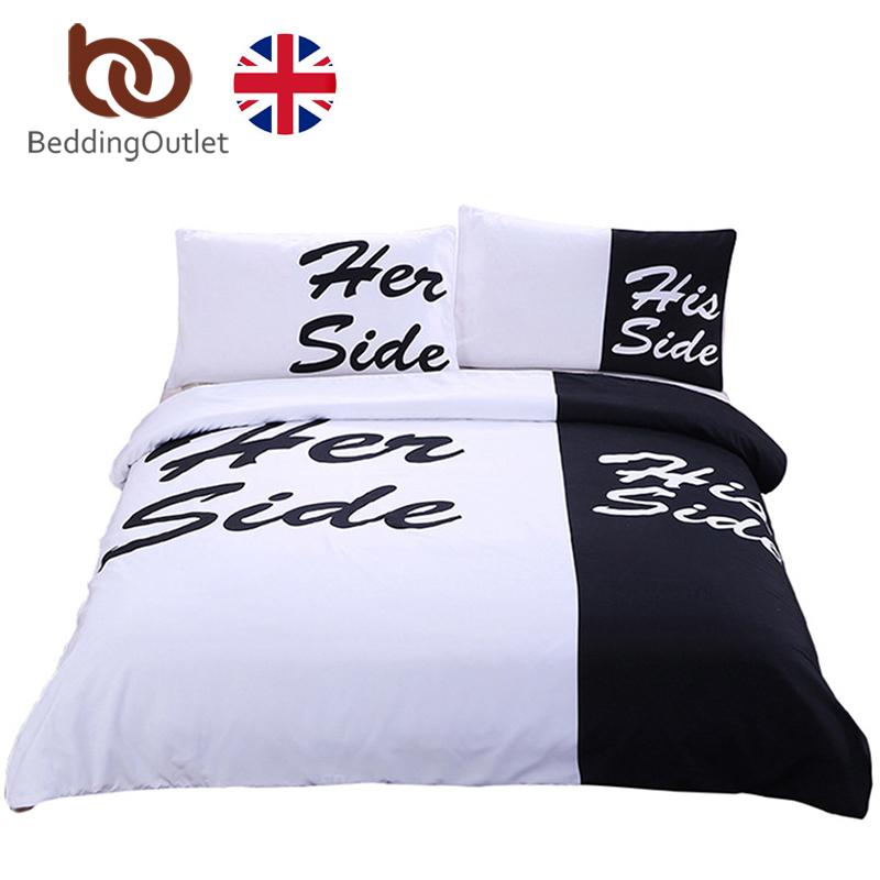 Copriletto Her Side His Side.Beddingoutlet Black And White Bedding Set His Side Her Side Couple