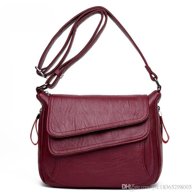 fe0445dc0d61 Zobtrn Woman Crossbody Bag Fashion Simple PU Leather Ladies Shoulder Bags  Elegant Temperament Practical Female Handbags Bags Messenger Bags For Women  ...