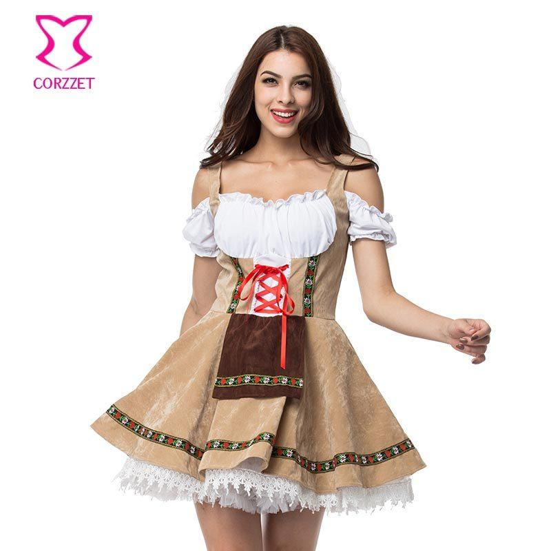 Plus Size Maid Fancy Dress Cosplay German Beer Girl Costume Sexy Dirndl  Deguisement Halloween Costumes For Women Oktoberfest Y1892609 Cheap Bra And  Panty ... 6ad54f36d5d2
